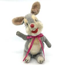 Schuco Thumper Rabbit Klopfer Mohair Plush Disney 1960 Bigo Bello 30cm Squeaker