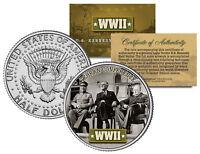 World War II TEHRAN CONFERENCE JFK  Kennedy Half Dollar U.S. Coin