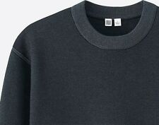 LEMAIRE x UNIQLO 'U' Men's Designer Milano Ribbed Crew Neck Sweater S Blue *NWT*