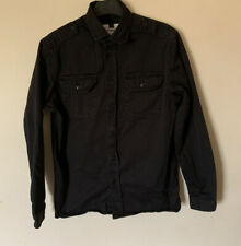 Topman Black Shirt Size Small 100% Cotton Long Sleeved Thick Style
