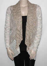 NEW INC International Concepts Plus Size 0X NEUTRAL Marled Open-Front Cardigan