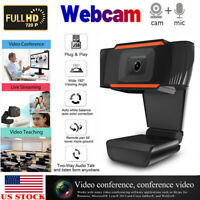 720P Webcam Focusing Web Camera HD Cam with Microphone For PC Laptop Desktop New