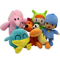 Set Of 6 Pcs Pocoyo Elly Pato Loula Soft Plush Stuffed Figure Toy Doll Kid Gift