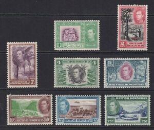 British Honduras Stamps x 8 1938  M/M  1c to 25c.