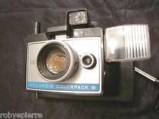 Macchina fotografica vintage Polaroid Colorpack III land camera 3 Color Pack