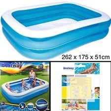 Bestway Swimming POOL 262x175x51cm Kinderpool PLANSCHBECKEN Reparaturset 10-tlg.