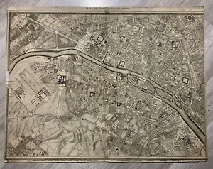 Rare plan ville de PARIS (France) / 1797 - Roussel  - Carte gravure ancienne -