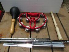 Red Spirit Tambourine, Yamaha Recorder, Lp Rattle and Hamilton Music Stand
