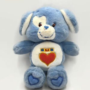 Just Play Care Bears Cousin LOYAL HEART DOG 2004 Puppy Plush Heart Medal Tummy