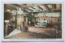 Old postcard THE LOBBY, HOTEL PICCADILLY, NEW YORK CITY