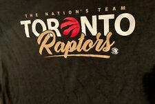 BNWT Toronto RAPTORS NBA L/S T-Shirt TEE 3XL XXXL Black Gold NATIONAL TEAM  BIN