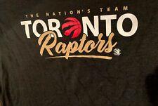 BNWT Toronto RAPTORS NBA L/S T-Shirt TEE 3XL XXXL Black Gold NATIONAL TEAM  BIN