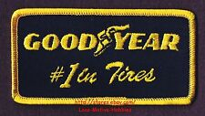 """LMH PATCH Badge  GOODYEAR #1 in TIRES Tire Rubber Wingfoot Logo Good Year 3-7/8"""""""