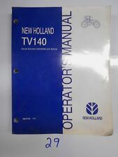 New Holland Tv140 Tractor Operator's Owner's Manual 86615155 7/00