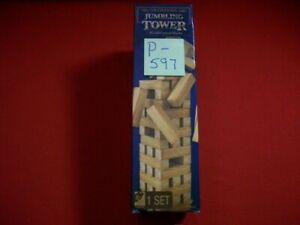 BRAND NEW SEALED TRADITIONS JUMBLING TOWER 48 SOLID WOOD BLOCKS BUILDING PUZZLE