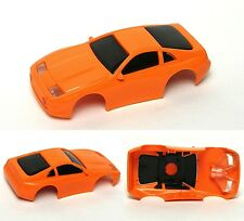 1991 TYCO Nissan 300ZX ORANGE HO Slot Car Body Blank Test Shot Clean Shaved Look