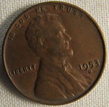 1953-D Lincoln Wheat Ears Cent Denver Minted Penny whotoldya