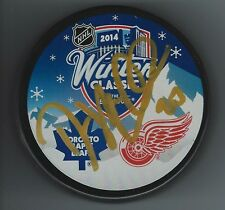 Drew MILLER Signed Detroit Red Wings 2014 WINTER CLASSIC Puck