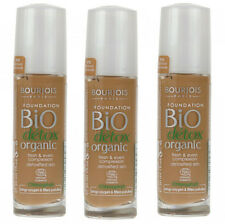 Bourjois Bio Detox Organic Foundation 58 Dark Bronze Liquid Makeup (3 PACK)