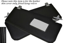 GREY STITCH FITS MERCEDES E CLASS W211 02-08 2X SUN VISORS LEATHER COVERS ONLY