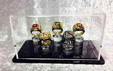 5 Ring Championship Ring Display Case - 5 Ring Display Case Championship Rings