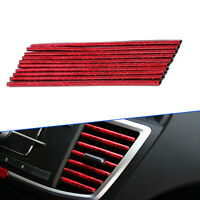 6 Styles 10x Universal Air Conditioner Air Outlet Strip Sticker Car Accessories