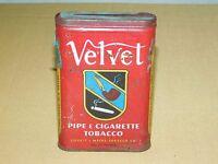 VINTAGE VELVET LIGGETT & MYERS  PIPE & CIGARETTE SMOKING TOBACCO TIN ****EMPTY*