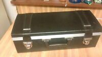 Beautiful 8 Track Leather Case,straps,streisand,bach,oldsmobile,vg!