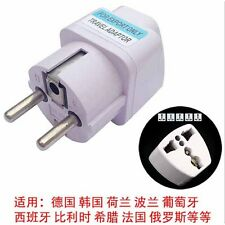 Power Plug Travel Adapter Converts Australian to Europe Bali India Germany Mores