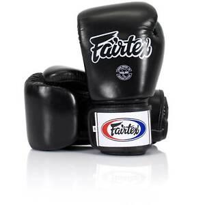 FAIRTEX BGV1 Muay Thai Kick Boxing Gloves Sparring Training MMA Black 18 oz.