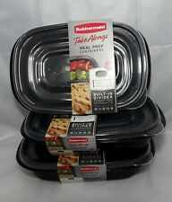 Rubbermaid Meal Prep Divided Containers 3 Pack 3.7 Cup Lunch Dinner Supper Snack