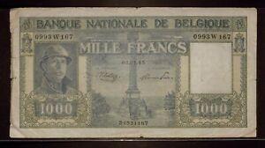 1945 Belgium 1000 Francs   Fine   03.01.45   Banque Nationale De Belgique