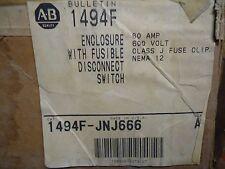 Allen-Bradley 1494F-JNJ666 Series A 60 amp 600 V Class J Fuses Disconnect Switch