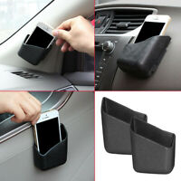 2x Universal Car Accessories Phone Key Organizer Storage Bag Box Holder Black
