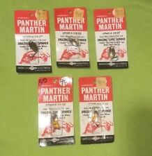 Vintage ~ PANTHER MARTIN ~ Harrison Choice ~ Spinners ~ Lures ~ Lot of 5 ~ NOS