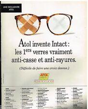 Publicité Advertising 1993 Les Lunettes Atol