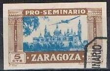 Pro-Seminario Zaragoza 5 Cts ongetand gestempeld used (z044)