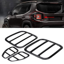 Metal Taillight Cover Guard Protector Kit For 2015-2017 Jeep Renegade Black LJ4