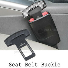 1pcs Real Carbon fiber Car safety seat belt buckle alarm stopper Null clip clamp