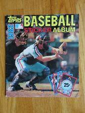 New Listing1982 Topps Baseball Player Sticker Album with Schmidt Ryan Henderson Carter