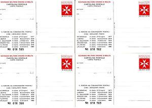 MALTA  - SMOM - 6 Postal Treaty Cards