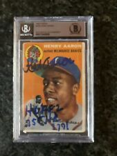 1954 Topps Hank Aaron rookie card signed AUTO 10