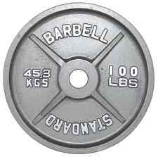 Weight Plate New USA Sports 1 X 100 lbs Gray Olympic Home Gym O-100