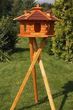 Vogelhaus von klein-XXL, wählbar mit oder ohne Ständer und Solarbeleuchtung V16