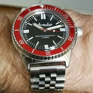 Vostok Amphibian Classic 100916 modified watch
