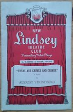 There Are Crimes And Crimes programme New Lindsey Theatre Club ~1950s Anne Trigo
