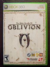 The Elder Scrolls IV Oblivion (Microsoft Xbox 360, 2006) w Case Manual Map Nice!