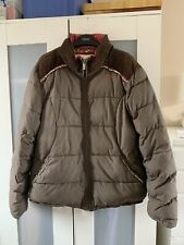 ANIMAL PUFFA COAT-JACKET BROWN Size UK 16 FLORAL TRIM & LINING EXC-COND