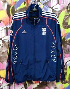 England National Cricket Team Longsleeve Full Zip Jacket Adidas 2008 Mens size L