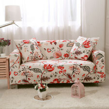 1/2/3/4 Seater Sofa Cover Stretch for Living Room Slipcovers with Pink Flowers
